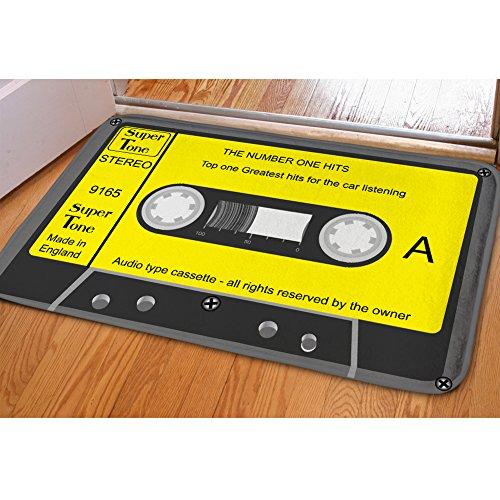 Goods /& Gadgets Tapis de Sol r/étro en Forme de Cassette