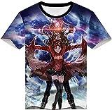 WTWE Camiseta 3D de manga corta para hombre, diseño de cómic, con impresión 3D, camiseta de manga corta