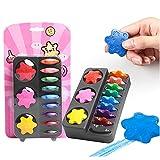 He-art Kleinkinder Finger Buntstifte Schneeflocken Puzzle Denkspiel Buntstiftstifte 12 Farben Malen für Kinder Zeichenwerkzeuge Kunstinteresse Entwickeln -