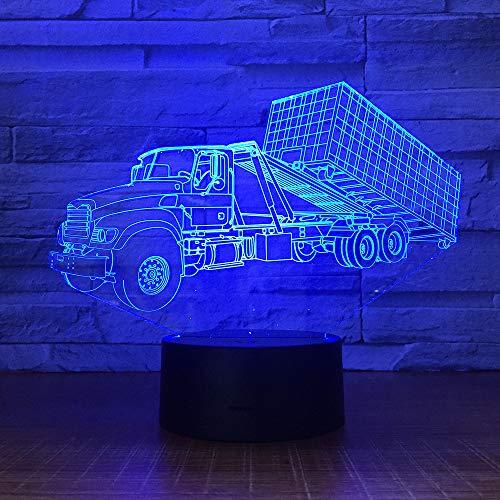 BFMBCHDJ Lange Lkw 3D Visuelle Lampe Farben Ändern Optische Täuschung Touch Tisch Schreibtisch LED Nachtlicht Große Kinder Geschenke Dekoration