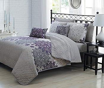 Avondale Manor Amber Bedding Set Plum King