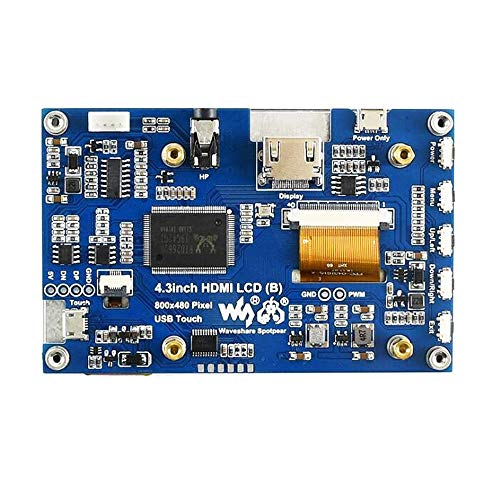 SHANG-JUN Fácil de Montar IPS HDMI Pantalla Pantalla táctil capacitiva Soporte Jetson Nano RPI/Cero 4.3 Pulgadas Conveniente