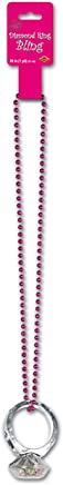 Beistle 57353 12-Pack Beads with Diamond Ring Bling, 36-Inch