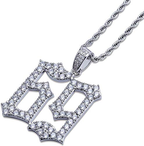 Gifts for Lover Couple necklace Pendant Necklace For Women & Men 69 Pendant Necklace 925 Sterling Silver 24 Inches(silver)