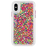 Case-Mate iPhoneケース (iPhone XS/iPhone X) ハード スマホケース カバー [耐衝撃・ワイヤレス充電対応・ハイブリッド・スリム構造] 透明 スプリンクル カラフル ビーズ クリア