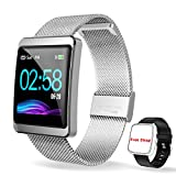 CanMixs Smartwatch Orologio Fitness Activity Trakcer Braccialett, CM11 Impermeabile IP68...