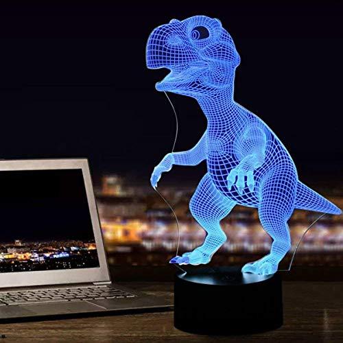3D Illusion Led Lampe Dinosaurier 7 Farbe Led-lampe Dekoration Tier Nachtlicht Touch Schlafen Nachttischlampe Jungen Geschenke