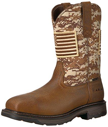 Ariat Work Men's Workhog Patriot Steel Toe Construction Boot, Earth/Sand Camo Print, 12 EE US