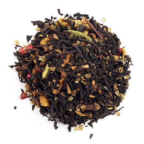Aromas de Té - Té Negro Arcoiris con Cardamomo, Canela, Trozos de Manzana, Rodajas de Naranja, Clavo y Pimienta Rosa, 100 gr