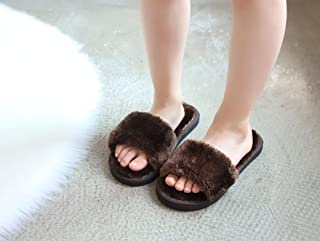COQUI Slippers Hombre,Zapatillas de algodón para niños Otoño e Invierno Muchachos y niñas, Interior más Velvet Dibujos Ani...