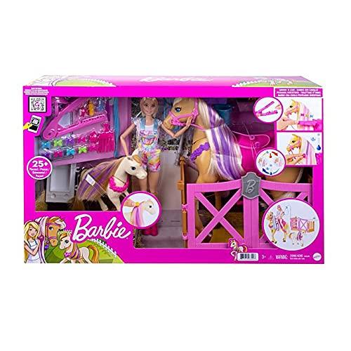 Barbie Groom 'n Care Doll, Horses and Playset (Mattel GXV77)
