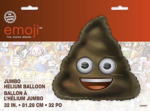 Unique Party 50887 - 30' Giant Foil Poop Emoji Balloon