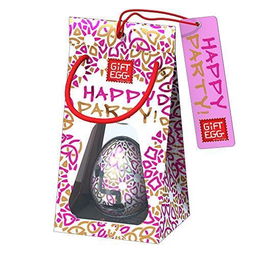 Smart Egg Happy Party - Glückliches Fest: 3D-Labyrinth-Puzzle, Brainteaser und Geschenk für alle Gelegenheiten (Rosa)