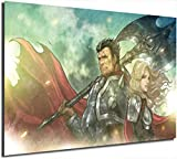 Póster de Lea-gue of Leg-ends pintura sobre lienzo, imagen de cómic de Darius para videojuegos,...