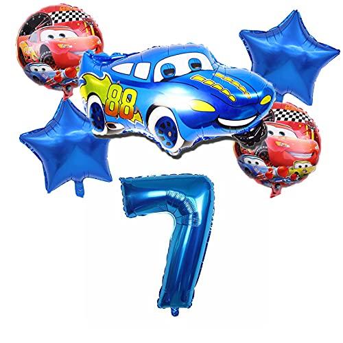 ENXI Globos 1set Dibujos Animados Coches Lightning Mcqueen Theme Globo 36 Pulgadas Número de Aluminio Balloon Fiesta de cumpleaños Decoraciones Baby Shower Suministros ( Color : Blue7 )