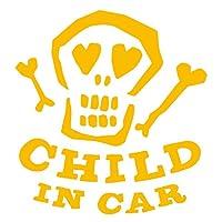 imoninn CHILD in car ステッカー 【パッケージ版】 No.31 ガイコツさん (黄色)