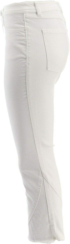 Lisa Rinna Collection White Denim Crop Flare Jeans White Denim 20W New A351374