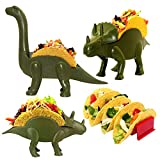 SLR Dinosaur Taco Holder set of 4 - Great fun taco tuesday with kids taco holder - Make any night taco night with dinosaur taco stand - Have fun taco serving and Great Family Value Pack