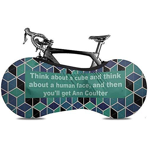 Bike Cover,Couvre-Roue De Vélo À Motif Hexagonal Cube, Housses De Vélo De Charme pour Vélos De Montagne Ou De Route