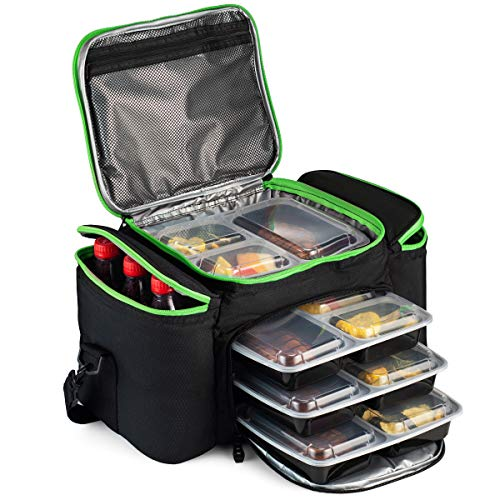 Cooler Bag Insulated By Outdoorwares Large Capacity Bag Durable, Insulated Tote To Keep Foods And Drinks In The Right Temperature - Good For Travel, Picnic, Beach Hiking, Camping ETC.