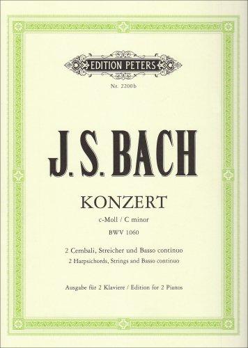 Konzert C-Moll Bwv 1060 - 2 Klav Str. Klavier, Klavier zu 4 Händen