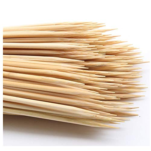 """DTmasao 100PCS 12 inch Bamboo Skewers for Wooden Sticks, BBQ,Appetiser,Fruit,Cocktail,Kabob,Chocolate Fountain,Grilling,Kitchen,Crafting and Party. Φ=4mm, More Size Choices 6""""/8""""/10"""""""