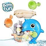 OYE HOYE Badewannenspielzeug für Babys, Delphin Badewannenspielzeug Wassermühle Fun Toy mit...