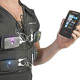 Sport-Elec - Chaleco Combi electrostático, Compatible con múltiples Marcas, Accesorio de ELCTROSTIMUALTION para Adultos, Unisex, Negro, L/XL