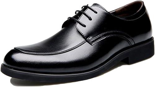 Snfgoij Cuir Male Chaussures Cravate Marron Occasionnel Soft Commerce Printemps Classique Robe D'Affaires Chaussures Cuir de Vachette Cuir Fond Souple