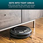 Shark ION Robot Vacuum R75 with Wi-Fi and Voice Control, 0.45 Quarts, in Smoke and Ash 13 THREE BRUSH TYPES. ONE POWERFUL CLEAN: Tri-Brush System combines side brushes, channel brushes, and a multi-surface brushroll to handle debris on all surfaces. COMPLETELY INTEGRATED IN YOUR HOME: Shark ION Robot senses ledges and stairs, avoids damaging furniture and walls, and maneuvers around potential stuck situations, truly knowing your home. CLEAN FROM YOUR PHONE: SharkClean app lets you start and stop cleaning and schedule your robot to clean whenever you want.