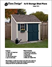 4' X 10 Lean-to Storage Shed Project Plans -Design #10410