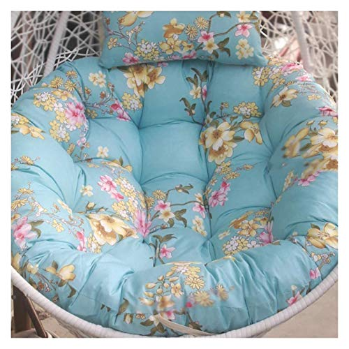 Chair Cushion for Bedroom or Garden furniture Thicken Round Papasan Chair Cushion With Pillow Patio Swing Chair Cushion For Outside Hanging Egg Hammock Chair Cushion Without Stand Room decoration WANG
