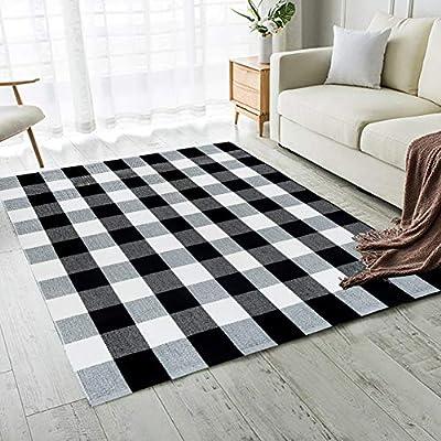 Carvapet Buffalo Checkered Rug