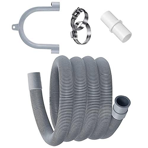 Kit de extensión de manguera de drenaje universal de 2 m para manguera de drenaje y lavadora, lavadora, secadora y lavavajillas
