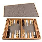 Manopoulos Juego de Backgammon de Ostrich Tote, 48 x 30 cm, de piel ecológica