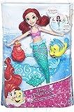 Poupee Ariel la Petite Sirene Balet aqauatique + Poisson polochon + Crabe Sebastien - Disney Princesse - Poupee Mannequin nouveauté