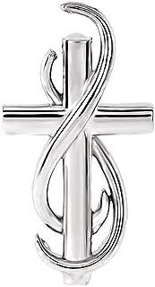 Black Bow Jewelry Sterling Silver Infinity Cross Slide Pendant, 15mm