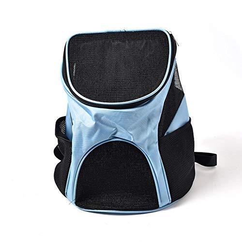 PETVE Pet Supplies Spielraum-Rucksack, Breathable Mesh + Oxford-Tuch, Haustier-Tasche Out Mini Breath Falttasche, Teddy Law Hundetasche Katzen-Tasche,Blau