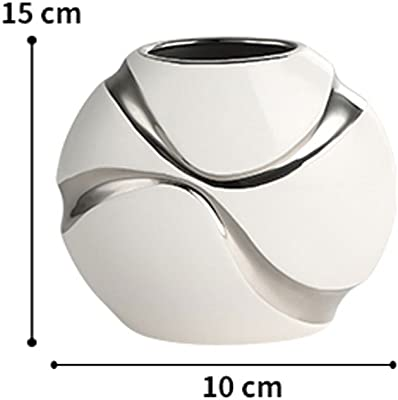 Vase Ceramic three-piece modern minimalist European floor home decoration housewarming gifts (Size :