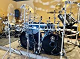 DistinctAndUnique 22 inch - 4 Pack Crystal Clear Acrylic Drum KIT Baffle - Muffles Live Recording Standard Mounting On All Cymbal Stand Performance Shields Sound Barrier