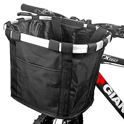 YSONG Bike Bicycle Basket, Folding Bicycle Basket, Detachable Bicycle Handlebar Basket, pet car Waterproof Bicycle Front Basket, Outdoor Camping, Picnic, Shopping