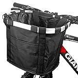 ZCZY Cesta para Bicicleta,Canasta de Bicicleta Plegable,Desmontable Cesta de Manillar de Bicicleta,Impermeable Cesta Delantera de Bicicleta para Porta Mascotas, Camping al aire libre, Picnic