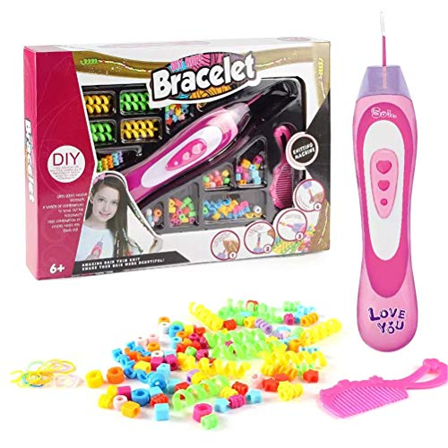 Nargut Hair Braider Tool for Girl Woman,DIY Hair Braiding Automatic Device Colorful Rope Bracelet Makeup Easy Braids Playset Little Girls Pretend Toy