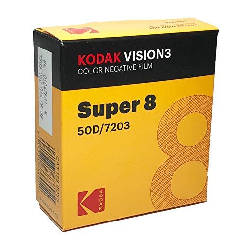 Kodak Vision3 Super 8 mm Color carrete de 50D 7203