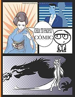 Crea tu propio cómic: 100 hojas (páginas con cuadros vacíos) de cómics en blanco para completar | para adultos, adolescent...