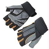 YL-light Fitness Handschuhe Hantel Ausrüstung Krafttraining Halbe Finger Outdoor Armbänder Männer...