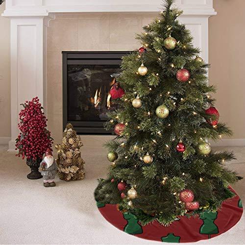 Weihnachtsbaum Rock Mode Schöne Schaufensterpuppe Kleiderbügel Rock Print Außerhalb Baum Rock Polyester Günstige Weihnachtsbaum Rock Teppich Für Party Urlaub Dekorationen Weihnachten Ornamente