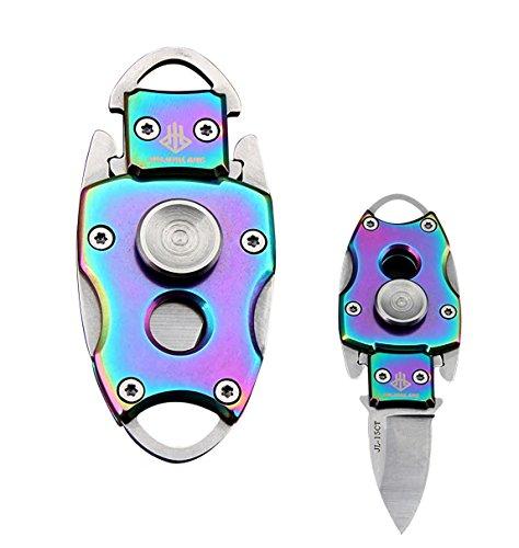 Haute Dureté extérieur EDC Porte-clés Outil de pliage Portable, multicolore