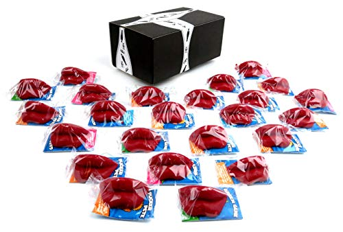 Wax Candy Lips, 24 Individually Wrapped Lips