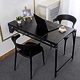 Contemporain Table Pliante,Table Murale Rabattable Multifonctionnelle,étagère Télescopique Variable Table à Manger,économiser de L'espace,Capacité de Charge 250 Kg (black)